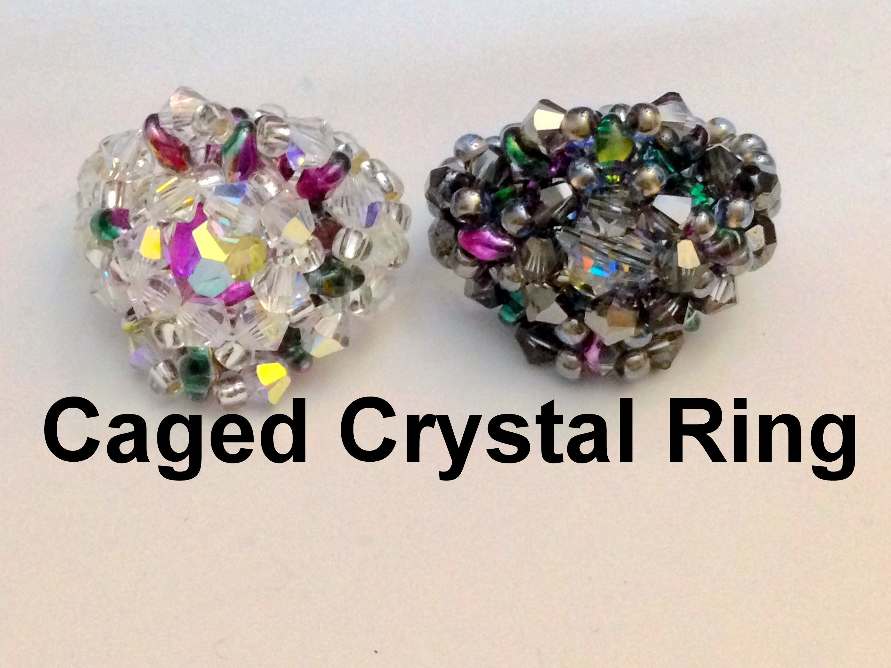 Caged Crystal Ring--intermediate level