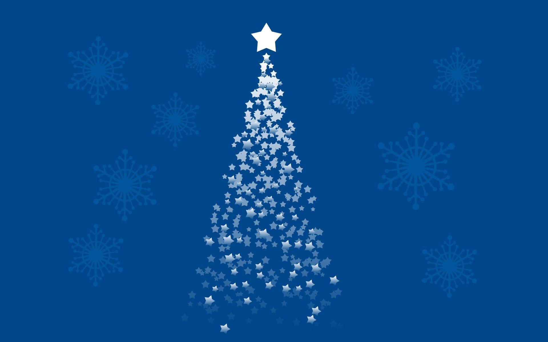 1920x1200 Blue Stars Christmas Tree Christmas Tree Wallpaper Tree Hd Wallpaper Christmas Wallpaper Hd