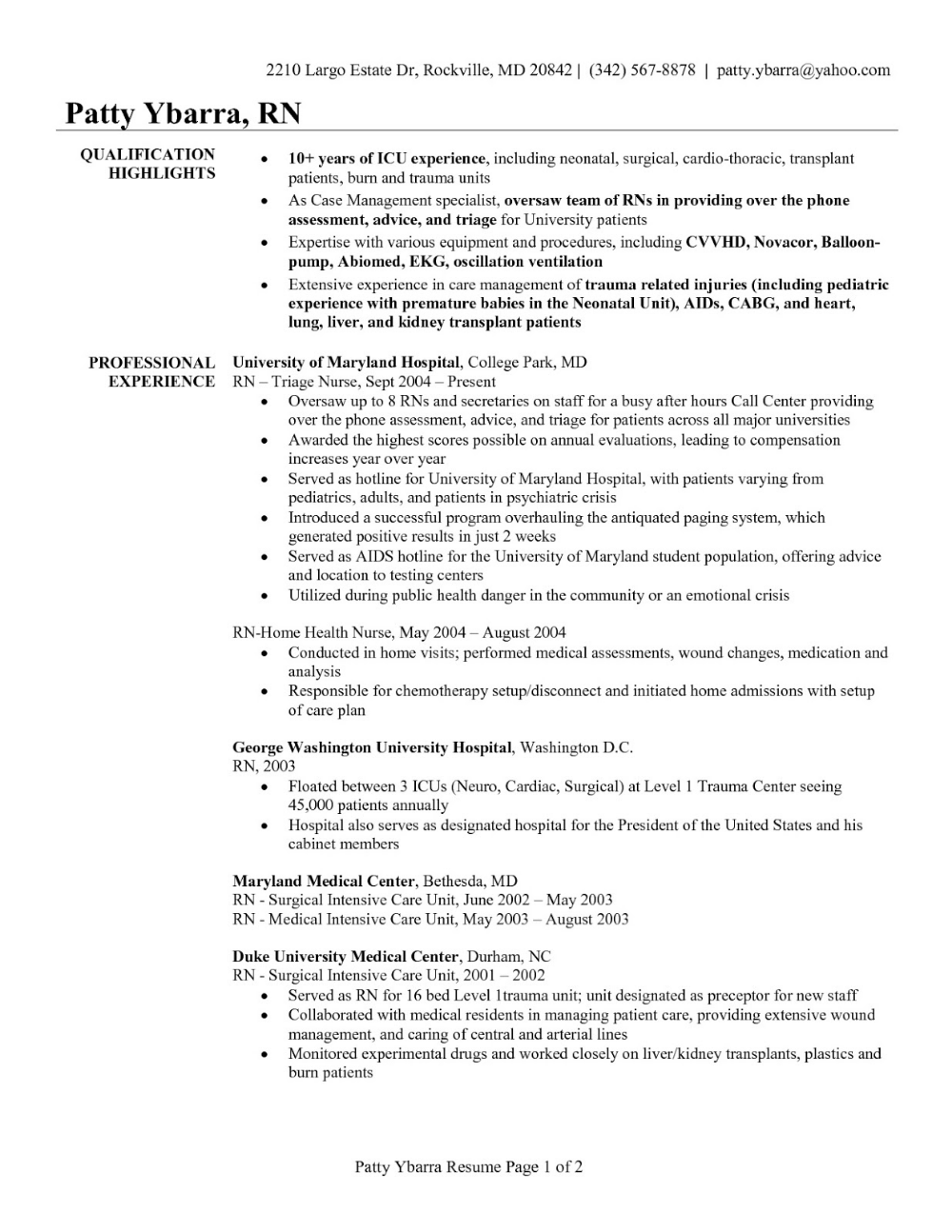 Resume Format 2020 Template