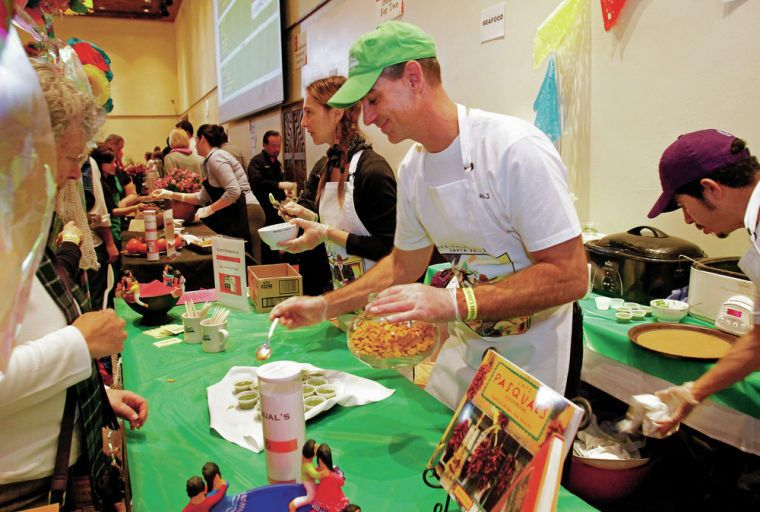 A thick, rich winter squash and chorizo soup garnished with fried sage and maple cream took top honors Saturday at the 20th annual Souper Bowl benefit competition held at the Santa Fe Community Convention Center.