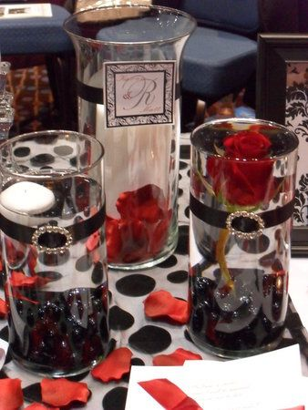 Wedding, Reception, Red, Black, Details dreams events - Project ...