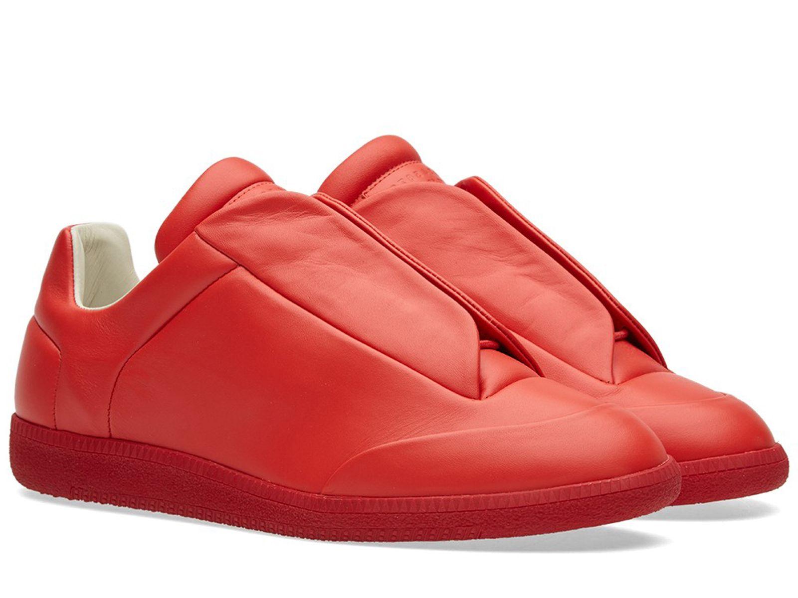 Maison Margiela Baskets Lacées Tons - Rouge JgxqhPp