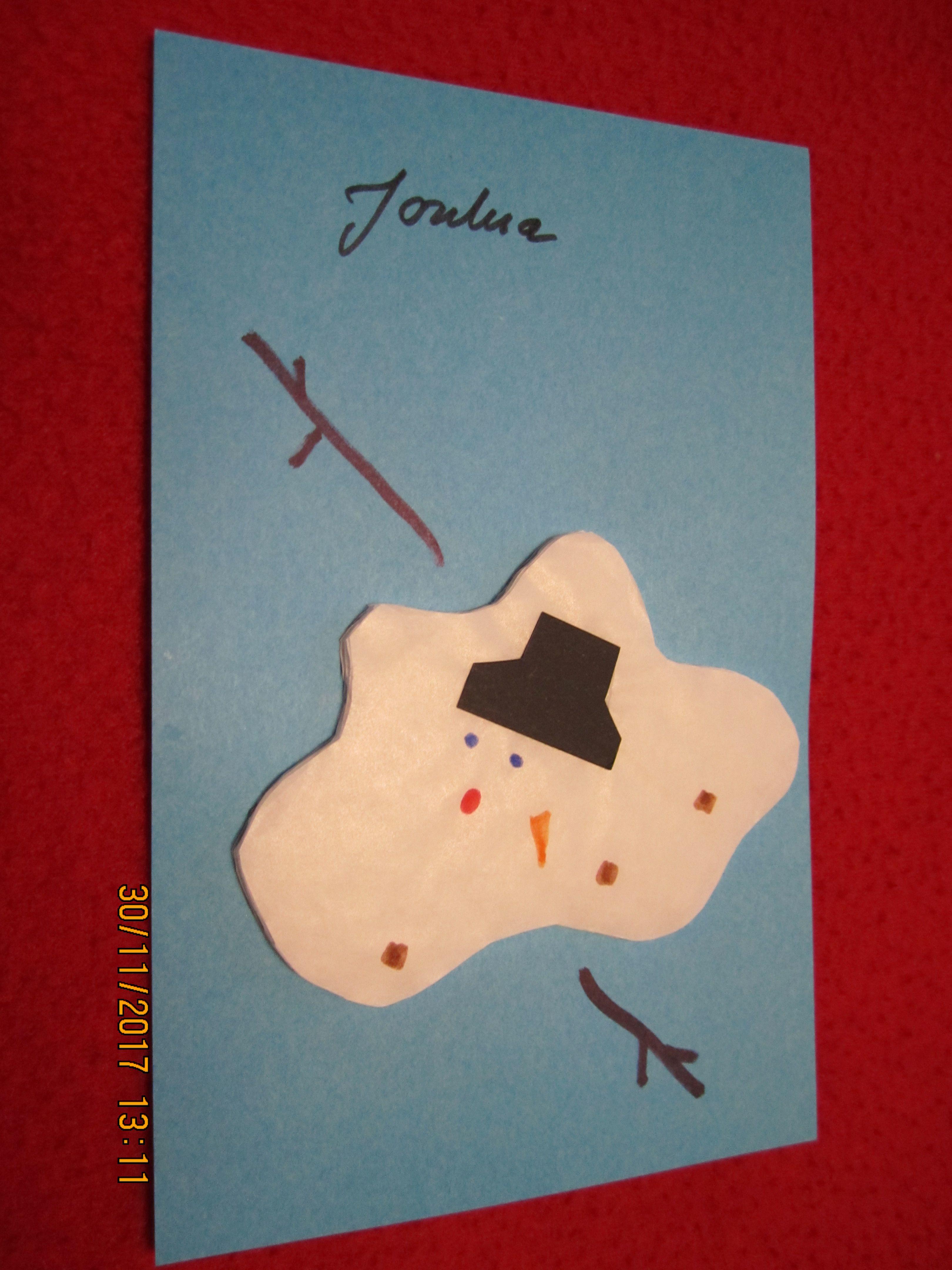 joulukortti idea Sulanut lumiukko. Hauska joulukortti idea. ( joulu kortti  joulukortti idea