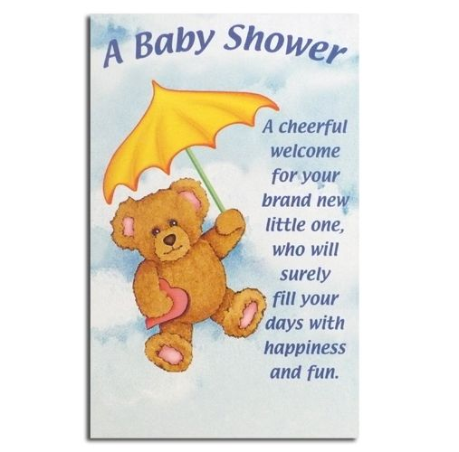 Well Wishes For Baby Shower Cards Baby Shower Greeting Card Teddy With Umbrella Baby Shower Greetings Baby Shower Card Message Baby Shower Messages