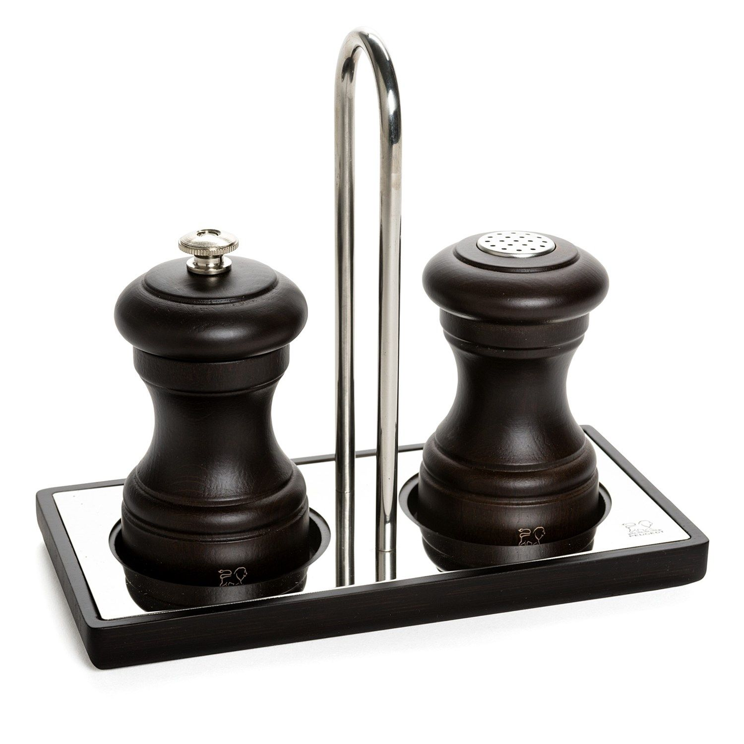 salt and pepper metal tray set