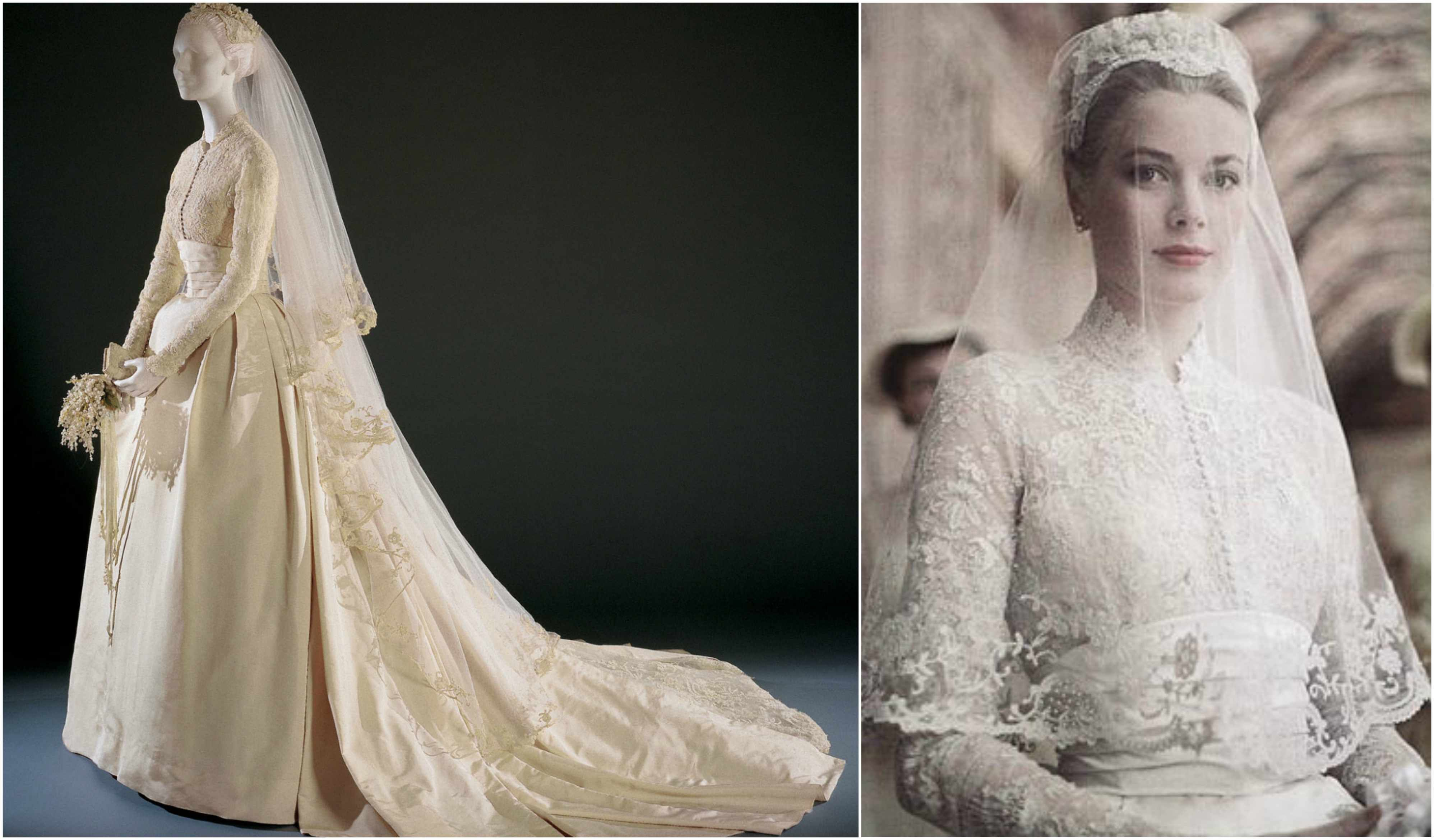 The princess bride-Grace Kelly\'s wedding dress is cited as a ...