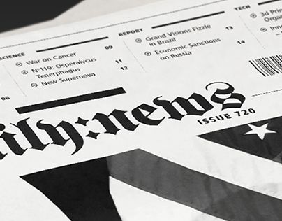(2014) Newspaper layout & editorial design concept. Provides daily news, reports and data visualization in various fields. Realised in Editorial and Typography Design Studio STO9.