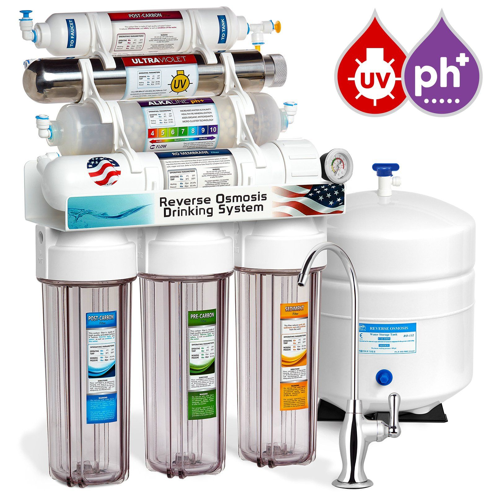 Home Ro Water Systems Express Water 11 Stage Uv Ultraviolet Alkaline Reverse Osmosis
