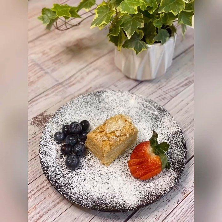 "Dasha on Instagram: ""For recipe in English please see below #napoleon #dessert #easydessert #whippedcream #love #sweettooth #cake #birthday #happybirthday…"""