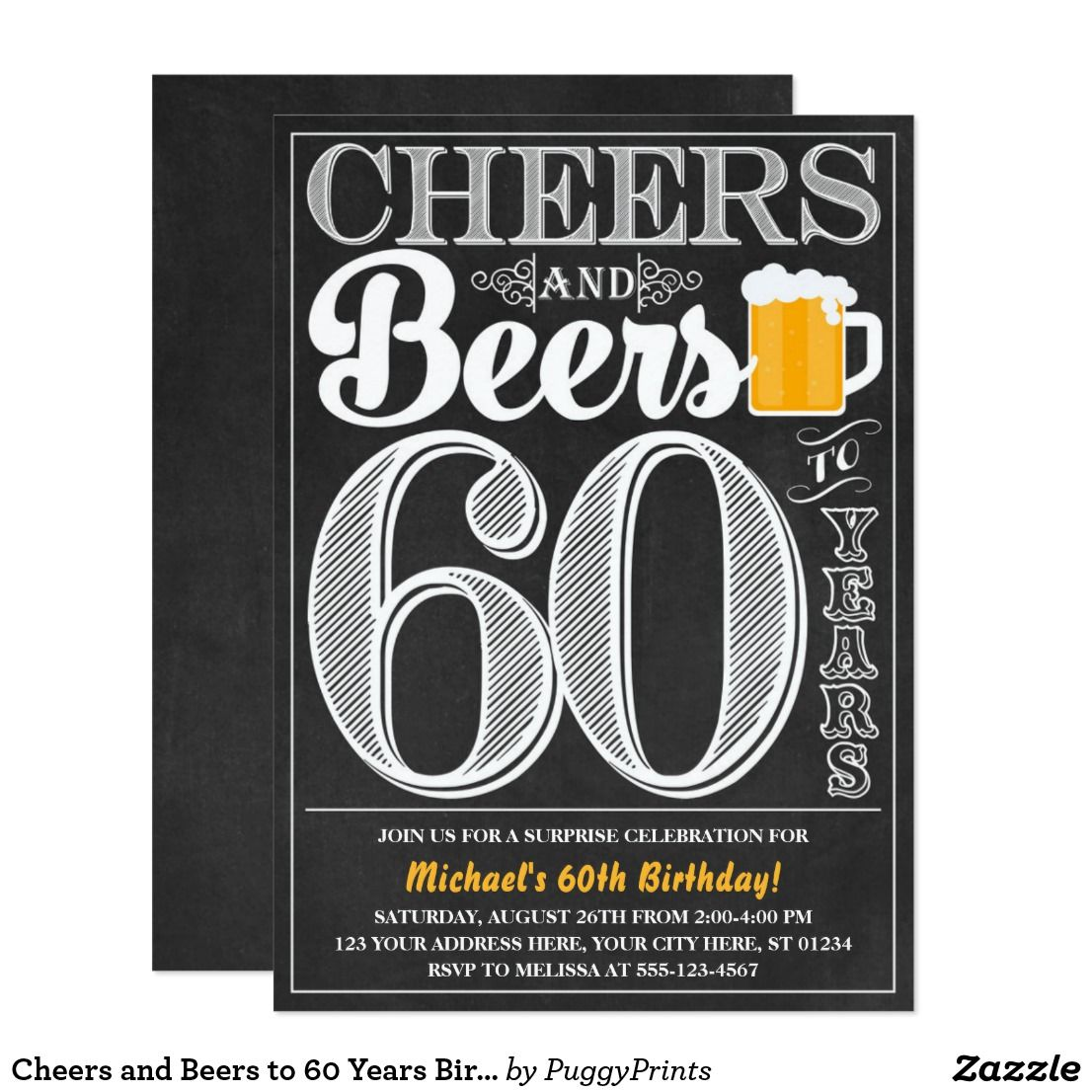 Cheers and Beers To 100th Birthday Wall Art Poster