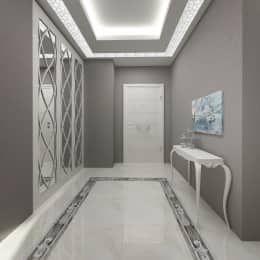 Pasillo, hall y escaleras de estilo  por Treso İç Mimarlık