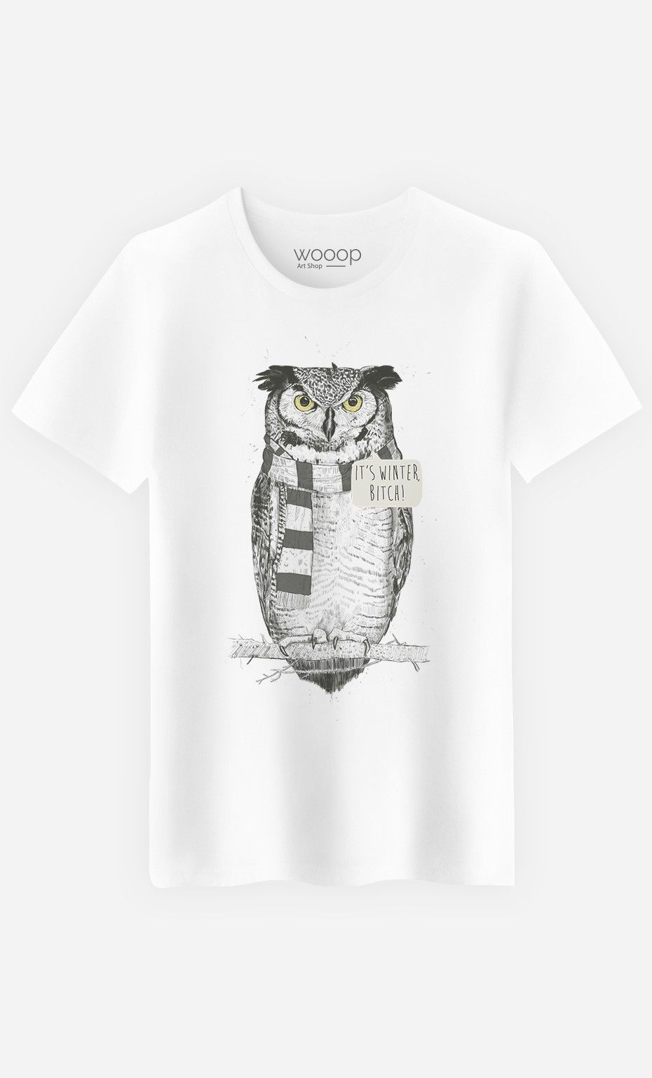 T-Shirt Homme It's Winter Bitch by Solti Balazs - Wooop.fr