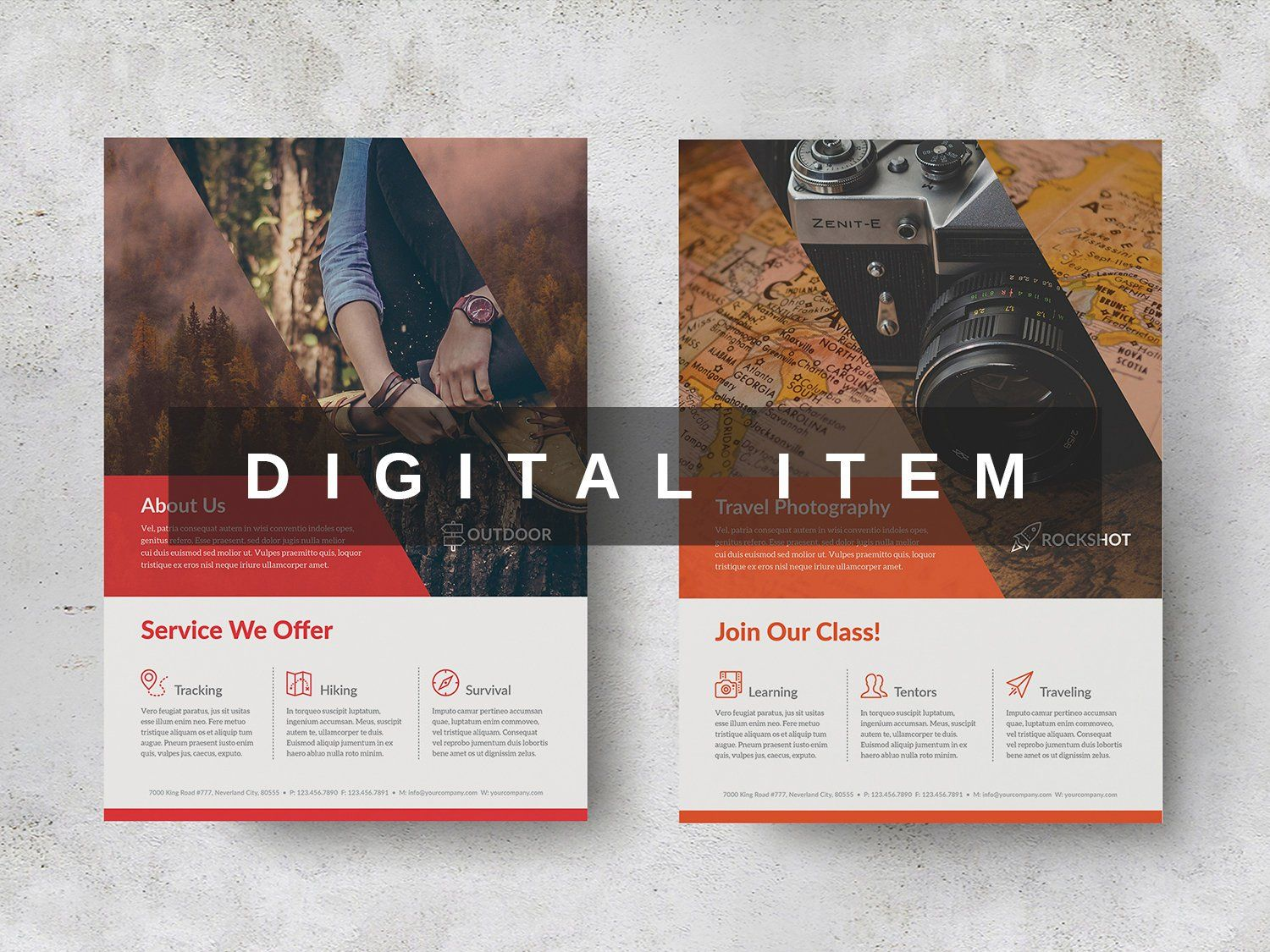Elegant Flyer And Poster Indesign Template Flyer Template Digital
