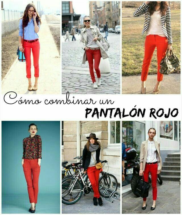 Pin De Maroca Peraza En Outfit Pantalones Rojos Pantalon Rojo Mujer Ropa