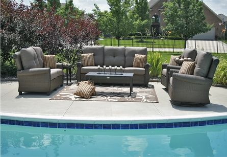 The Giovanna Collection All Weather Wicker/Cast Aluminum Patio ...