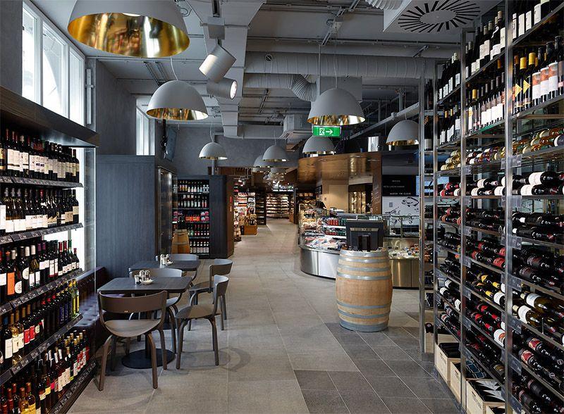 Amazing supermarket in vienna commercial interior design for Interior design wien