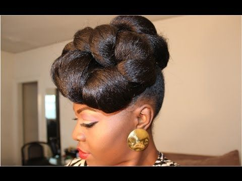 6 Easy Updo High Bun Hairstyle Tutorials For Black Women High Bun Hairstyles Natural Hair Updo Natural Hair Styles