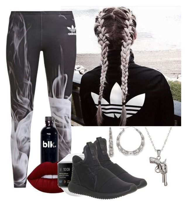 """""""Adidas Outfit"""" by dippe on Polyvore featuring Bamboo, adidas, adidas Originals, Lime Crime and La Preciosa"""