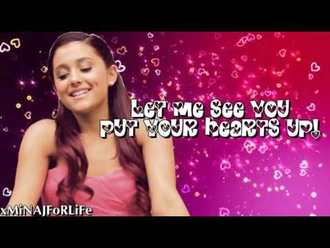 Ariana Grande Put Your Hearts Up Lyrics On Screen Music