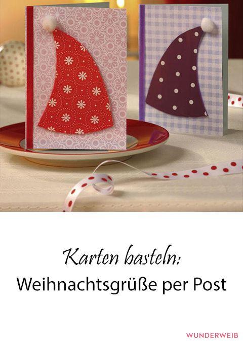 Weihnachtsgrüße Per Post.Karten Basteln Weihnachtsgrüße Per Post Weihnachten
