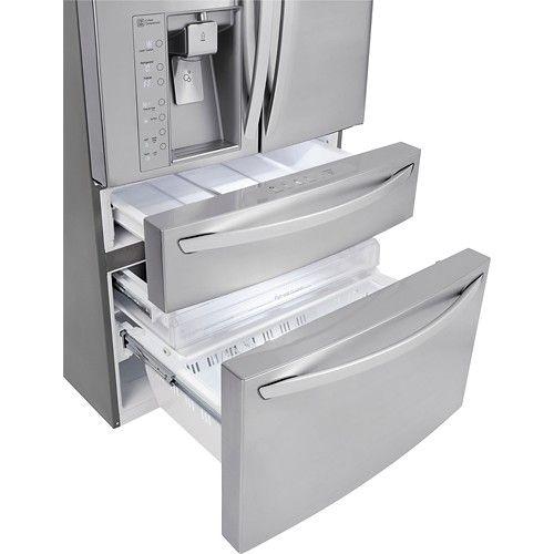 LG - 29.9 Cu. Ft. 4-Door French Door Refrigerator with Thru-the-Door Ice and Water - Stainless-Steel - Alternate View 5
