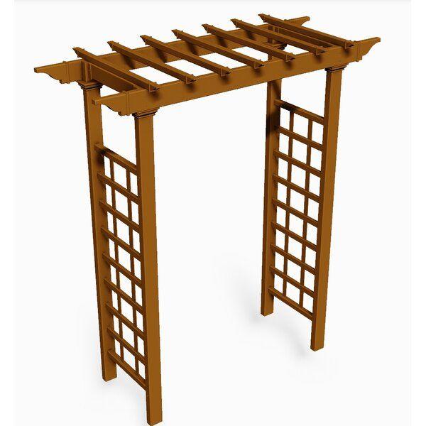 Annotto 57 W 24 D Vinyl Arbor Pergola Pergola Designs Wood Pergola Diy