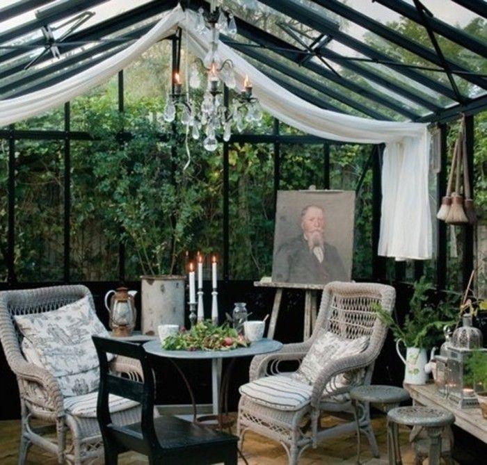 44 Ideen für einladenden Veranda Wintergarten