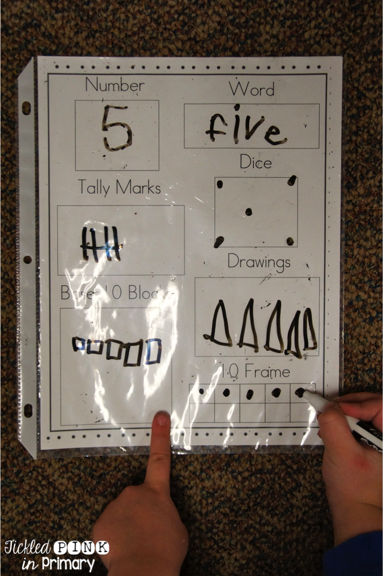 worksheet Ways To Make A Number Worksheet number sense how to represent numbers student learning tickled pink in primary