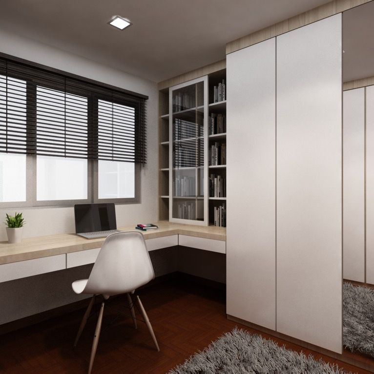 Hdb Study Room Design Ideas Part - 21: This 4-room HDB Apartment Is An Excellent Example Of How Subtle Mix And  Match. Study IdeasWashing ...