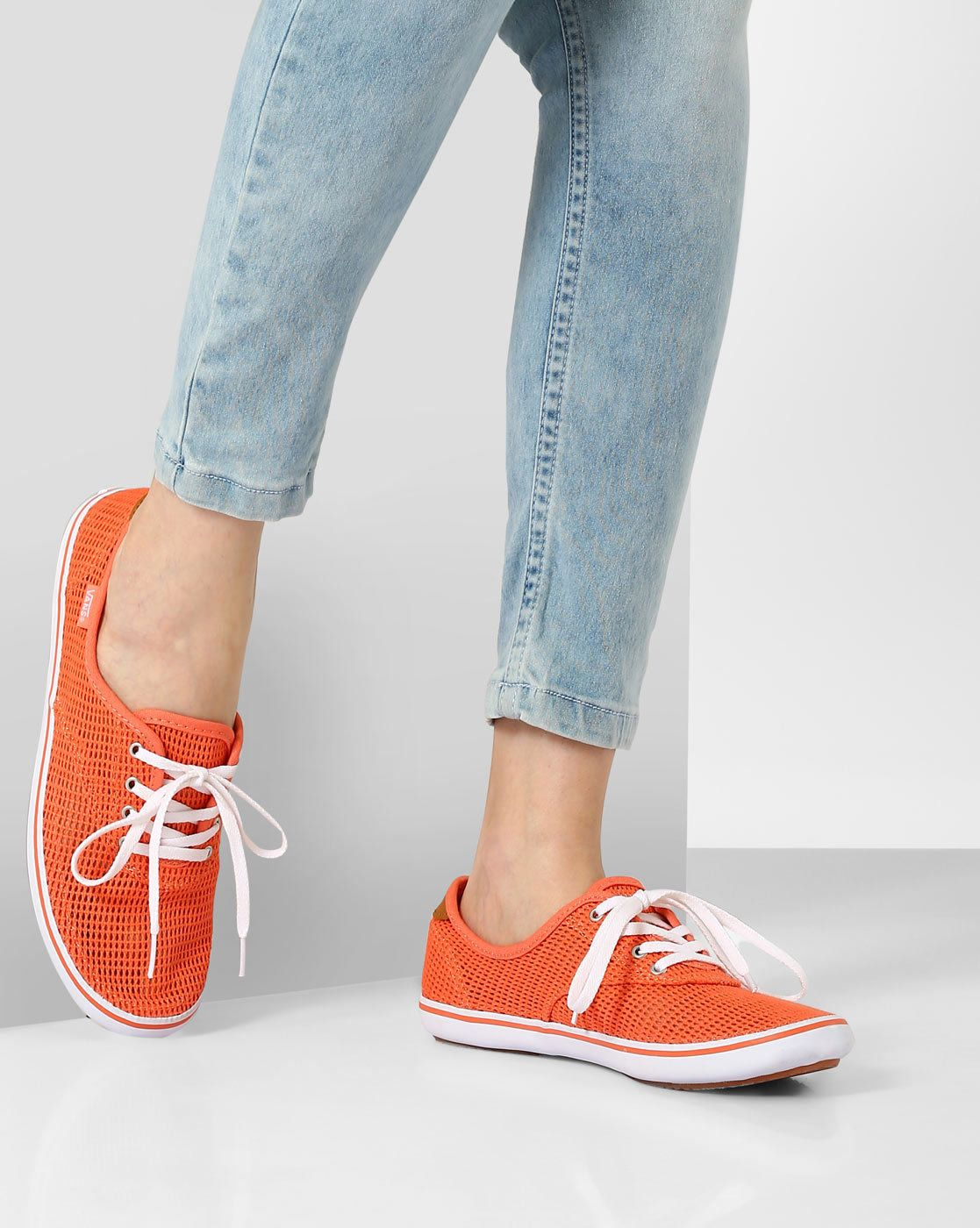 4f360ca01c73 Buy Peach Vans Authentic Lo Pro Panelled Casual Shoes  solid  casual   laceup  college