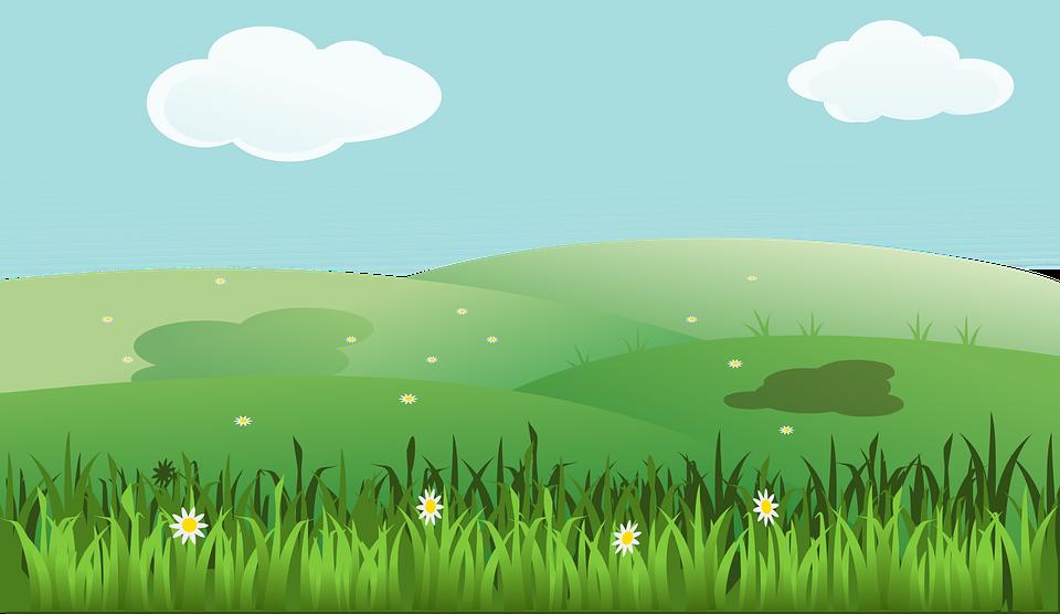 Free Image On Pixabay Landscape Spring Summer Fields Cartoon Grass Landscape Grass