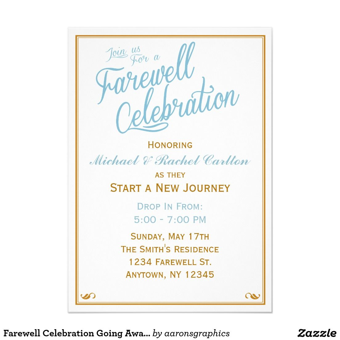 Farewell Celebration Going Away Invitation Zazzle Com Farewell