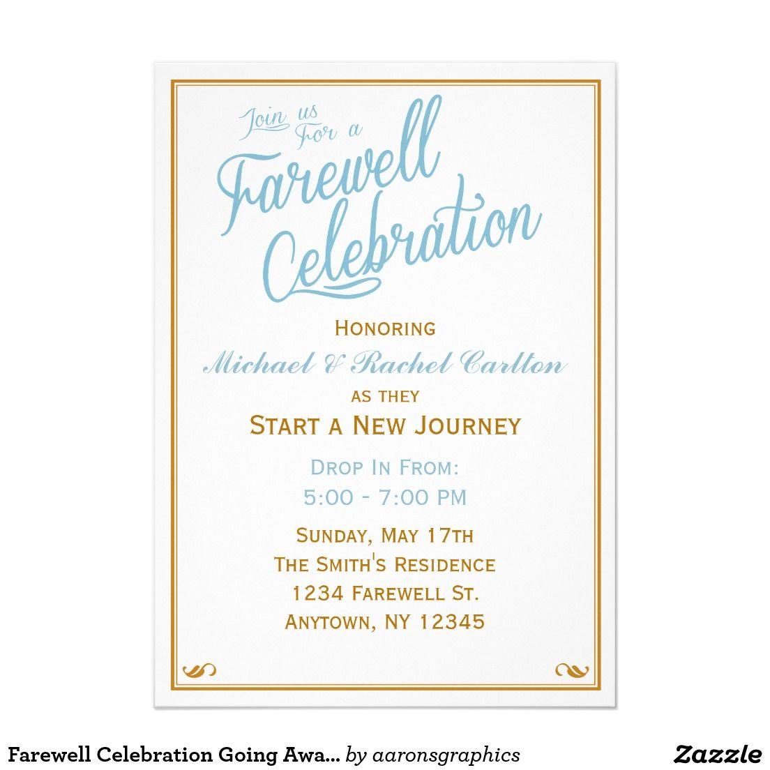 Farewell Celebration Going Away Invitation Zazzle Com Farewell Invitation Card Invitation Card Party Farewell Party Invitations