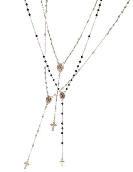 17 panama rosary necklace #rosaryjewelry