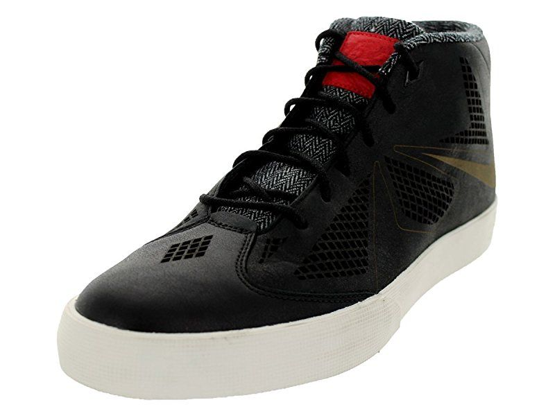 Nike Men\u0027s Lebron X NSW Lifestyle Black/Black/Sail/Unvrsty Red Casual Shoe