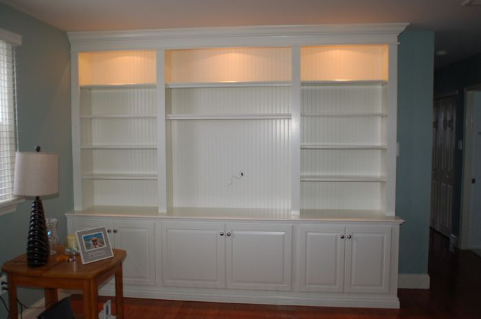 Basement entertainment center idea for the home How to build an entertainment wall unit