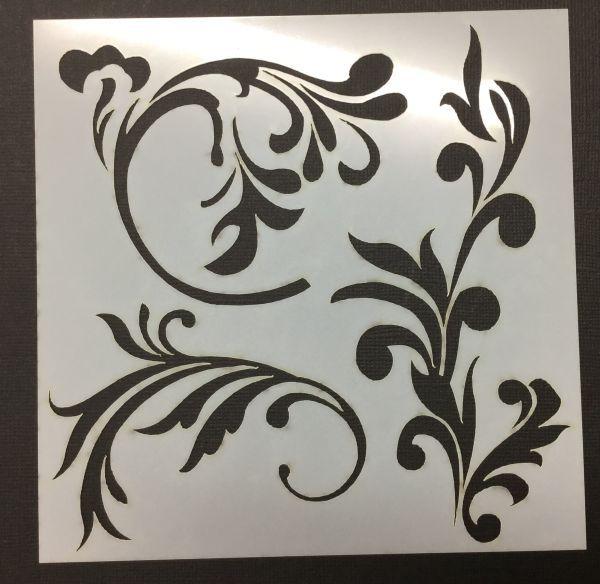 Flourish Stencil by Imagine If