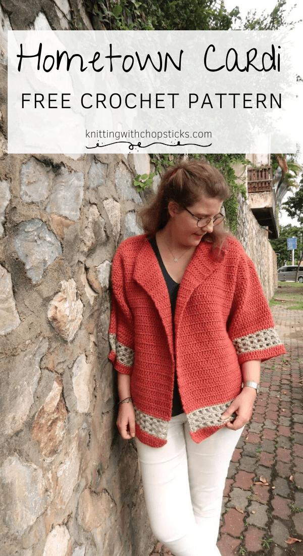 Photo of Hometown Chunky Crochet Cardigan Pattern