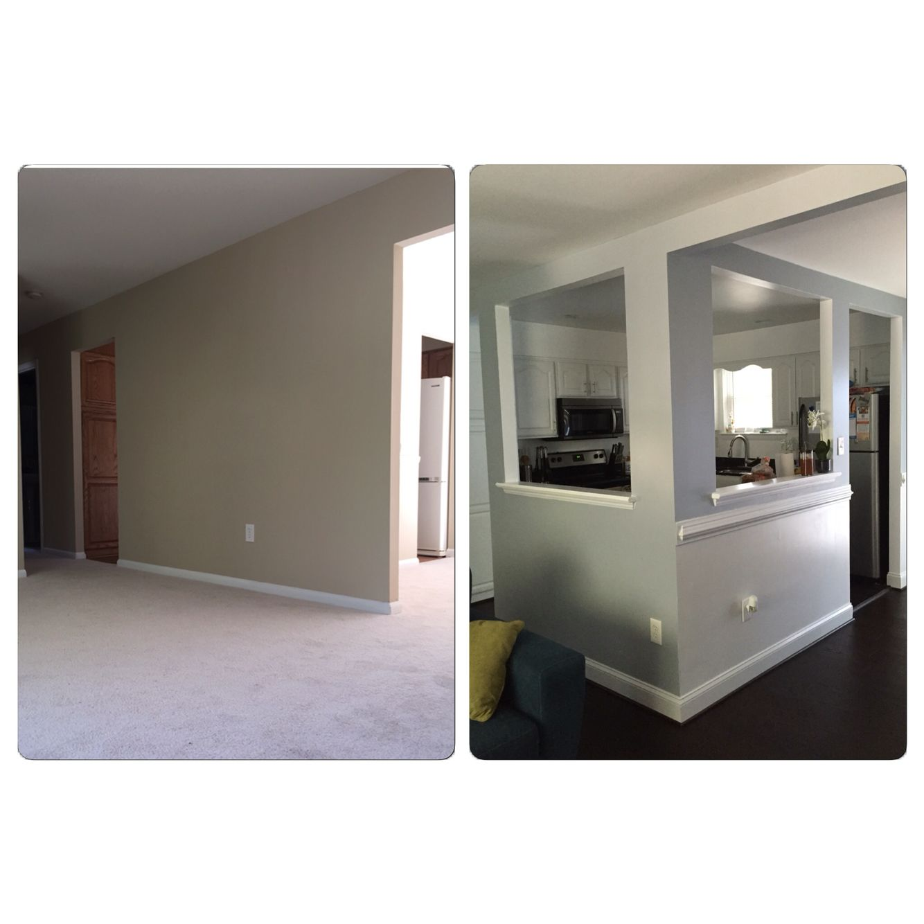 Creating An Open Kitchen And Dining Room: Before And After. We Opened Up The