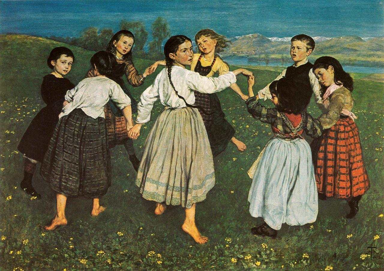 """Hans Thoma -  """"Der Kinderreigen"""" (1872) oil on canvas Staatliche Kunsthalle Karlsruhe"""