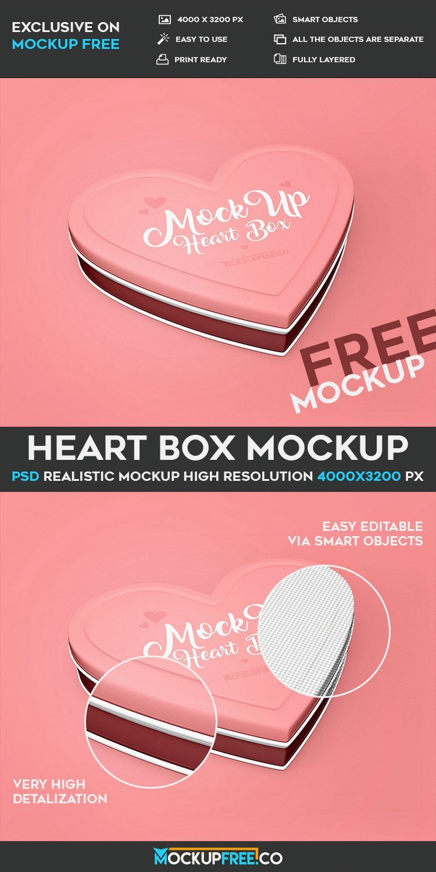 Download Heart Box Free Psd Mockup Download Mockup Free Psd Psd Free Download Mockup Psd