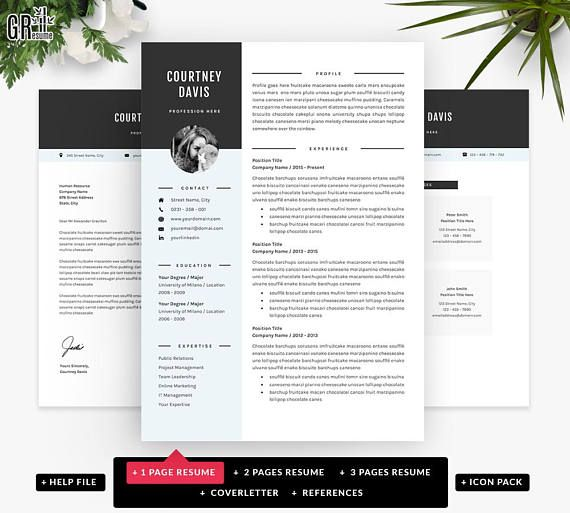 3 Page Resume.3 Pages Resume Template Professional Cv Template For