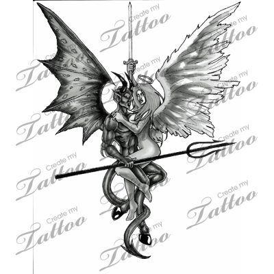 Good Vs Evil Tattoo Drawings Good Vs Evil Tattoos Good Evil Tattoos Good And Evil Tattoos Evil Tattoo