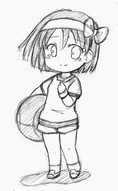 A little clean sketch from chibi pencil when i have time ill