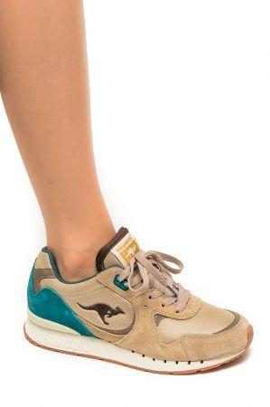 Kangaroos Coil R2 Morel Sand Buty Sportowe Z Kolekcji Kangaroos Jesien Zima 2014 15 Wykonane Z Polaczenia Zamszu I Mater Sneakers Nike Saucony Sneaker Shoes