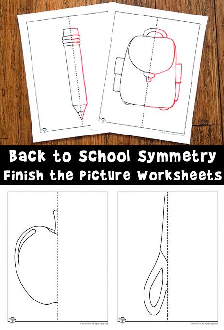 finish the picture symmetry drawing worksheets for back to school kita pinterest kita und. Black Bedroom Furniture Sets. Home Design Ideas