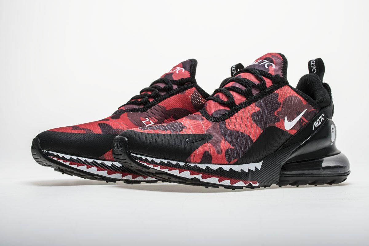Bape x Nike Air Max 270 AH6799-016 Red
