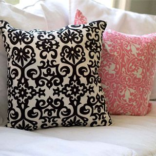 Pillows. Buy different fabric covers for them