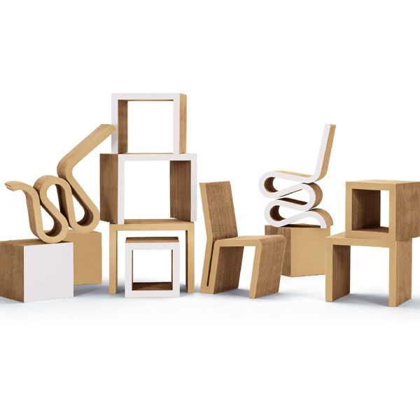 Frank Gehry Quot Easy Edges Quot Collection Cardboard Furniture