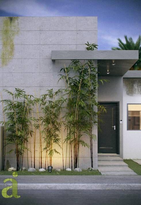 Jardines peque os que adornar n la entrada de tu casa - Jardines exteriores de casas modernas ...